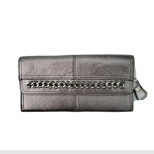 B. Makowsky Silver Gray Metallic Wallet